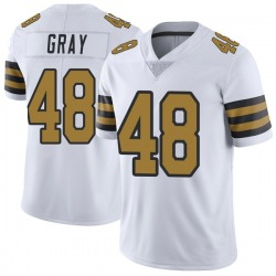 Nike J.T. Gray New Orleans Saints Men's Limited White Color Rush Jersey