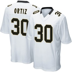 Nike Ricky Ortiz New Orleans Saints Youth Game White Jersey