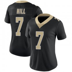 Nike Taysom Hill New Orleans Saints Women's Limited Black Team Color 100th Vapor Untouchable Jersey