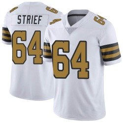 Nike Zach Strief New Orleans Saints Men's Limited White Color Rush Jersey