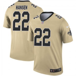 Nike Chase Hansen New Orleans Saints Youth Legend Gold Inverted Jersey