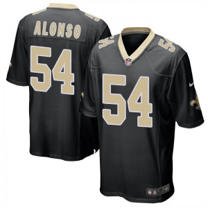 Nike Kiko Alonso New Orleans Saints Men's Game Black Team Color Jersey