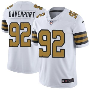 Nike Marcus Davenport New Orleans Saints Youth Limited White Color Rush Jersey
