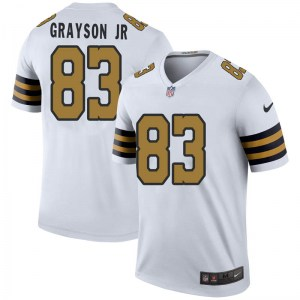 Nike Cyril Grayson Jr. New Orleans Saints Youth Legend White Color Rush Jersey
