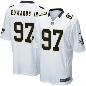 Nike Mario Edwards Jr. New Orleans Saints Youth Game White Jersey