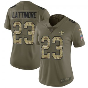 Nike Marshon Lattimore New Orleans Saints Women's Limited Green Salute to Service Jersey