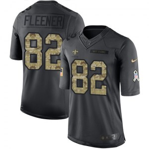 Nike Coby Fleener New Orleans Saints Youth Limited Black 2016 Salute to Service Jersey
