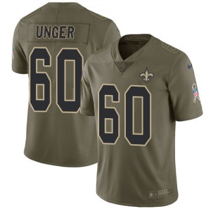 Nike Max Unger New Orleans Saints Men's Limited Olive 2017 Salute to Service Jersey