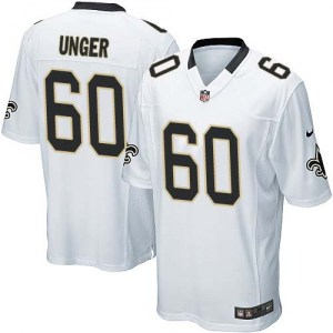 Nike Max Unger New Orleans Saints Youth Game White Jersey