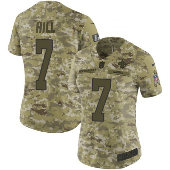 Nike Taysom Hill New Orleans Saints Women s Limited Camo 2018 Salute to  Service Jersey c85aa679d